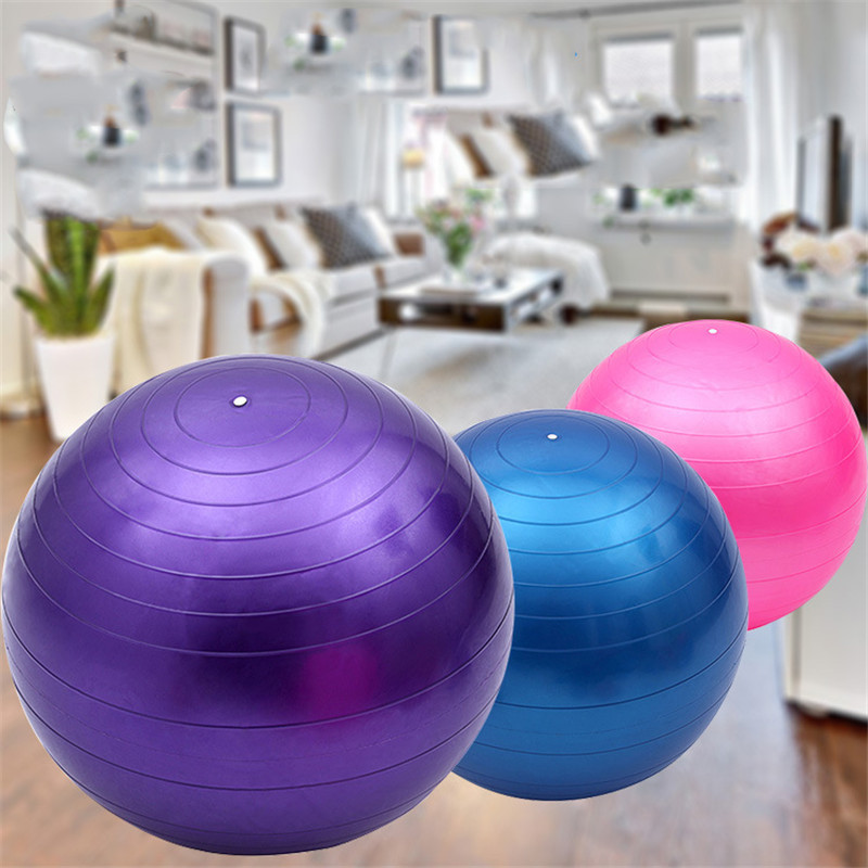 45cm Sports Yoga Balls Smooth Type Pilate Fitness Gym Balance Stability Explosion Proof Fitball Exercise Workout Massage Ball