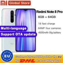 "Globale ROM Original Xiaomi Redmi Hinweis 8 pro 64GB 6GB MTK Helio G90T Smartphone 6.35 ""64MP Quad hinten Kamera 4500mAh Batterie"