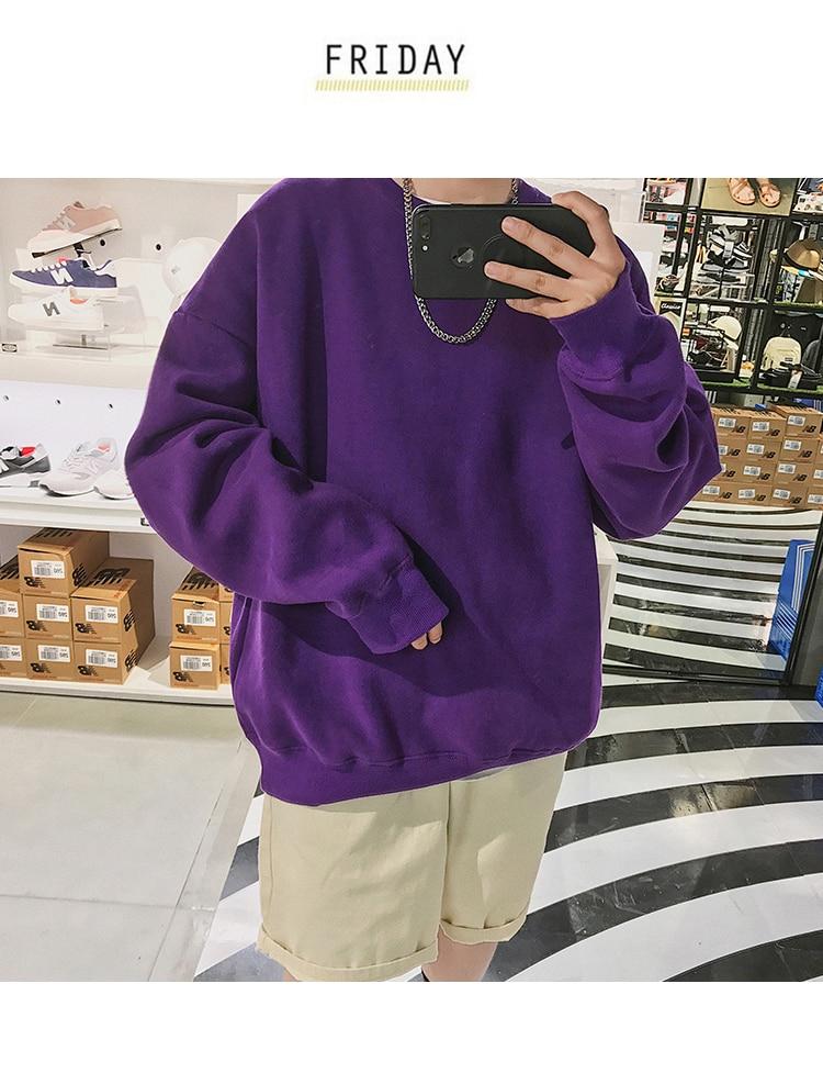 Men Hoodies Sweatshirts Street wear Black Hoodie Male Hip hop Winter Basic Hoodies 39
