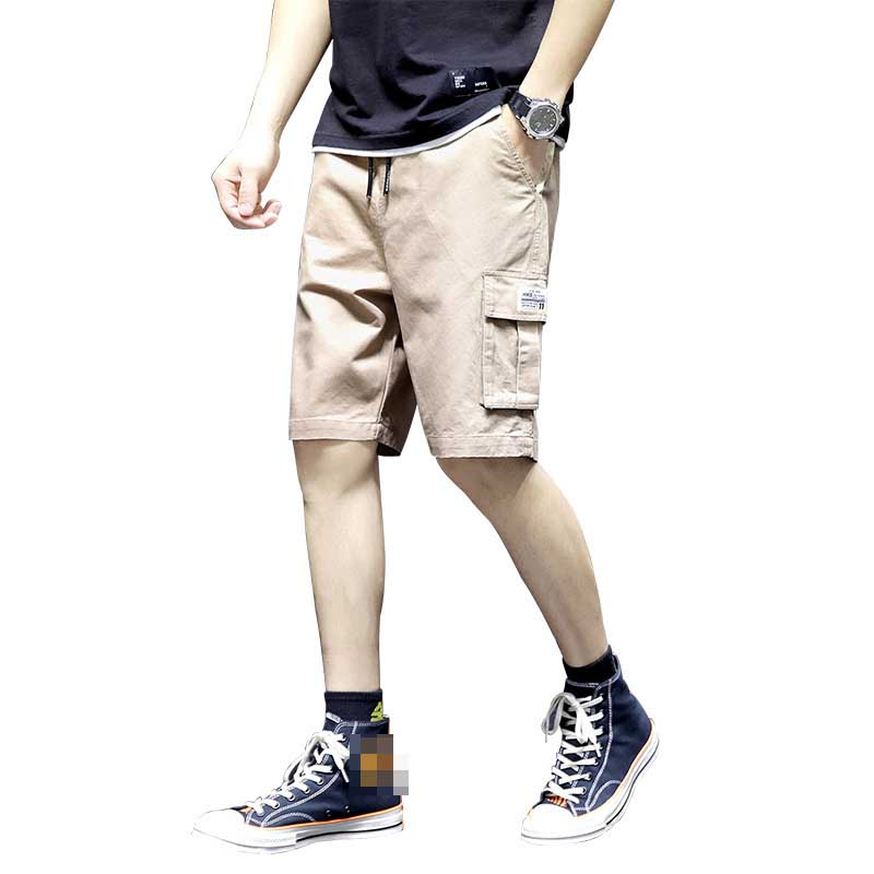 Casual Shorts Men Cotton Cargo Shorts Homer Beach Shorts Plus Elastic Short Pants Male 019 Newest Summer