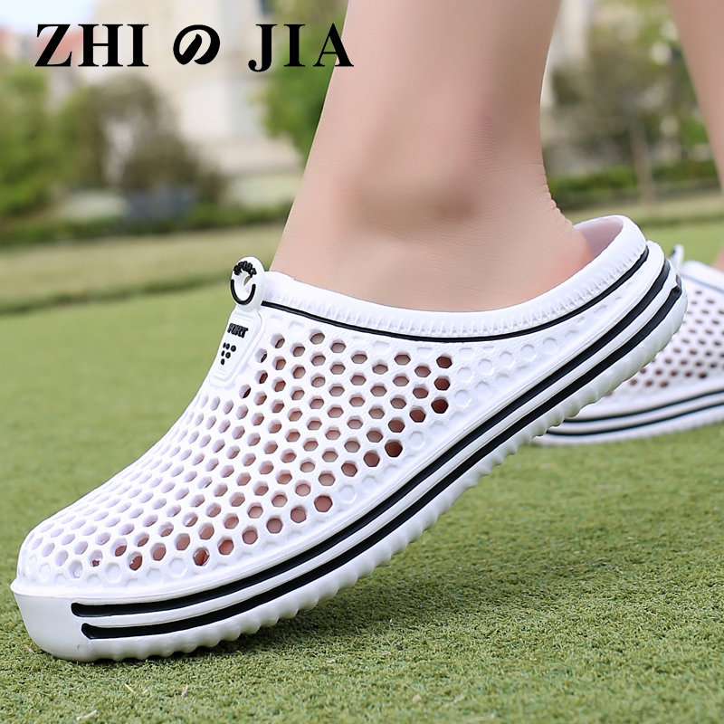 Womens Sandals Comfortable Summer Footwear Fashion Hollow Out Breathable Beach Slippers Flip Flops EVA Massage Slippers Sandals