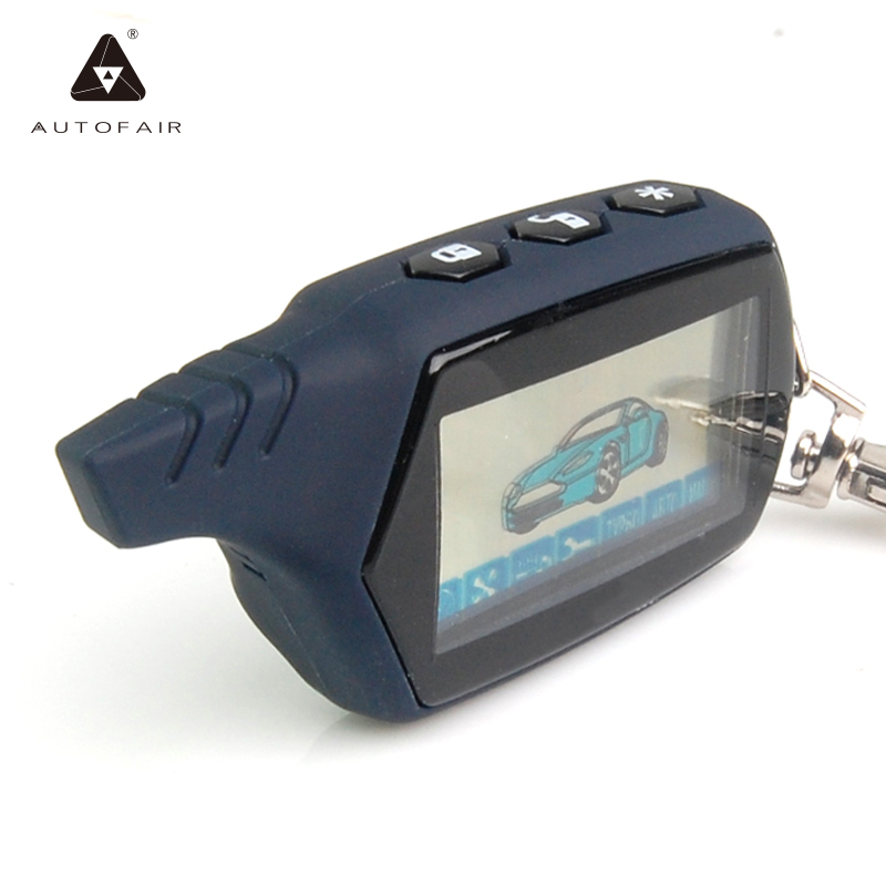 Key-Chain Engine-Starter Remote-Control Car-Anti-Theft-Alarm Starline A91 Russian LCD