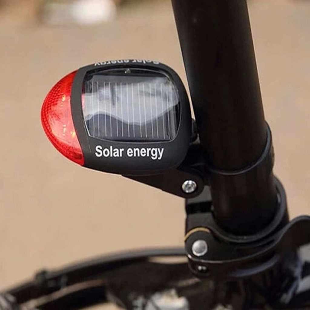 Modos de iluminación alimentada por energía Solar luz de bicicleta para montañas luz trasera LED intermitente para bicicleta ciclismo lámpara de seguridad 2LED