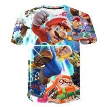 マリオスーパーファッションtシャツおかしいアニメ3D印刷tシャツヒップホップメンズ服2021新夏カジュアル半袖6xl