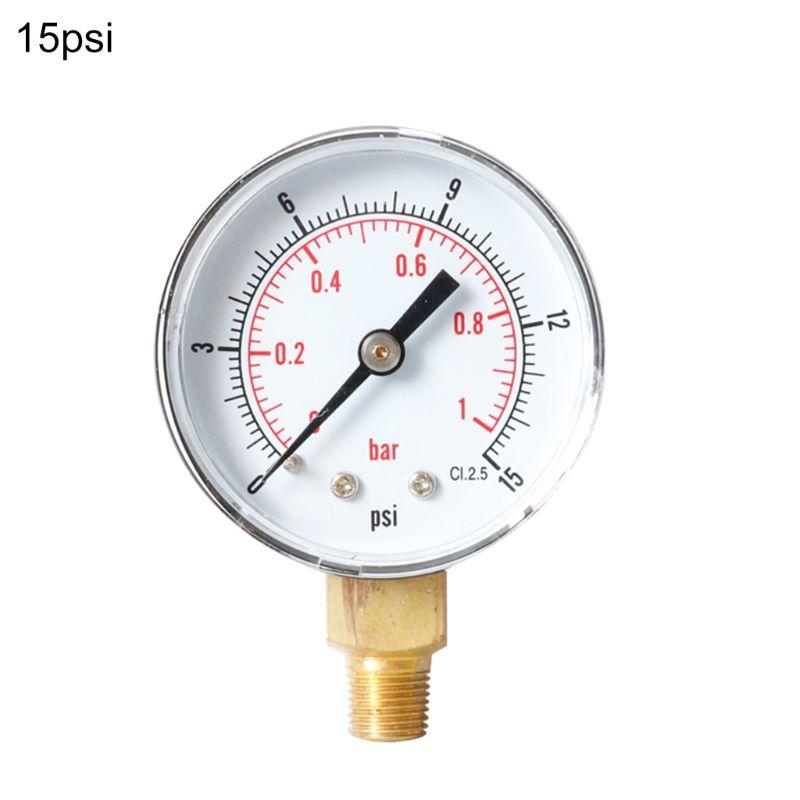 Manom/ètre 52 mm cadran 1//8 BSPT horizontal 0//15,30,60,100,160,300 PSI /& Bar