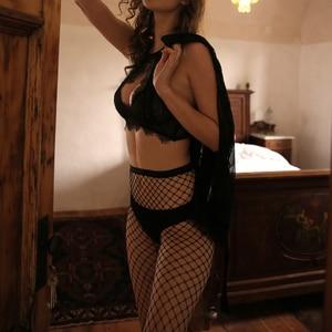 Image 2 - IMBOBO 2020 sexy fishnet female stockings ladies tights Taste Mesh black Pantyhose womens High waisted sexy lingerie stockings