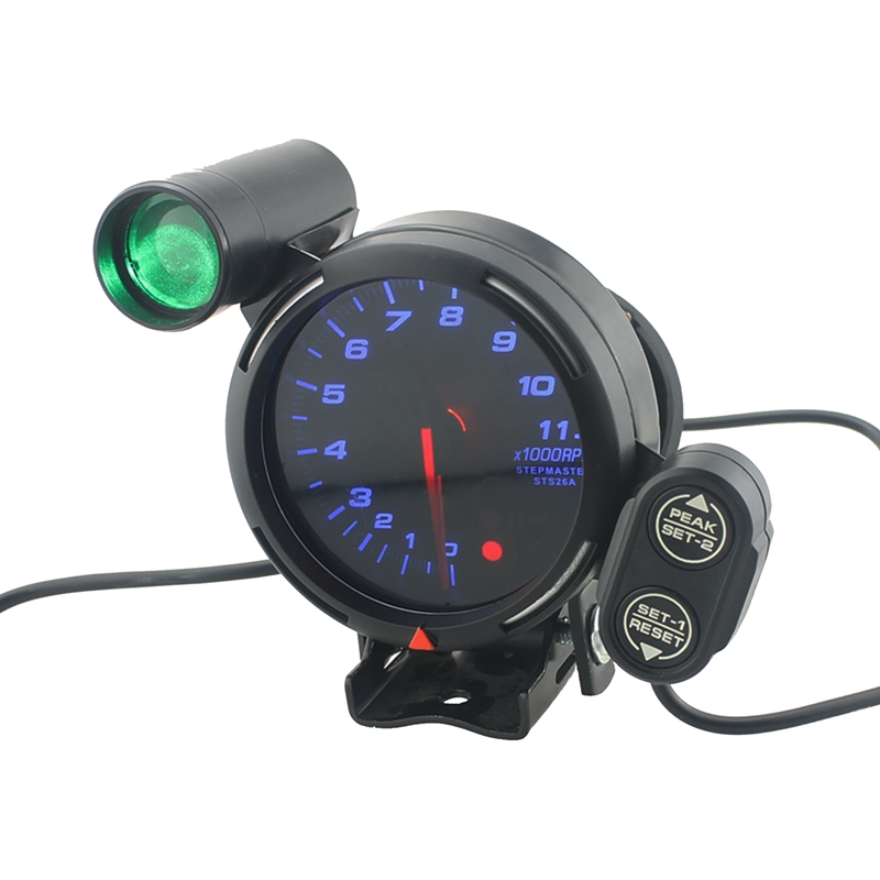 Car Dashboard 3.75Inch 11000 Rpm 95mm Speed Tachometer Gauge Kit with Adjustable Shift Light Blue Led+Stepping Motor Car Accesso