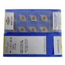 50pcs ZCC Tools DCMT11T308  HM YBC251 DCMT 11T308 HM ZCC.CT Cemented Carbide Cutting Tool Turning Inserts DCMT11T308 HM