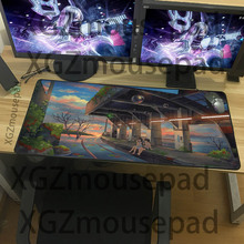 XGZ Exquisite large-size anime pattern table mat, beautiful scenery as a mouse pad, high-quality rubber non-slip keyboard pad