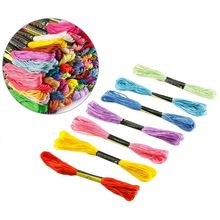 Hot Sale 5 Pieces Bamboo Embroidery Hoops with 100 Colors Skeins Embroidery Thread Floss Cr