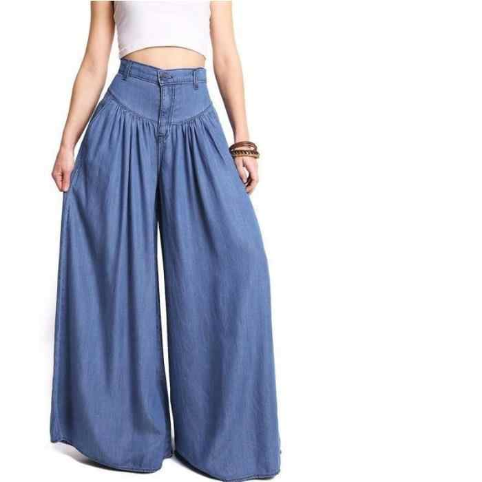 streetwear summer women's pants female high waist wide leg long skirt pants capris for women trousers woman Plus size 5XL LAJ788