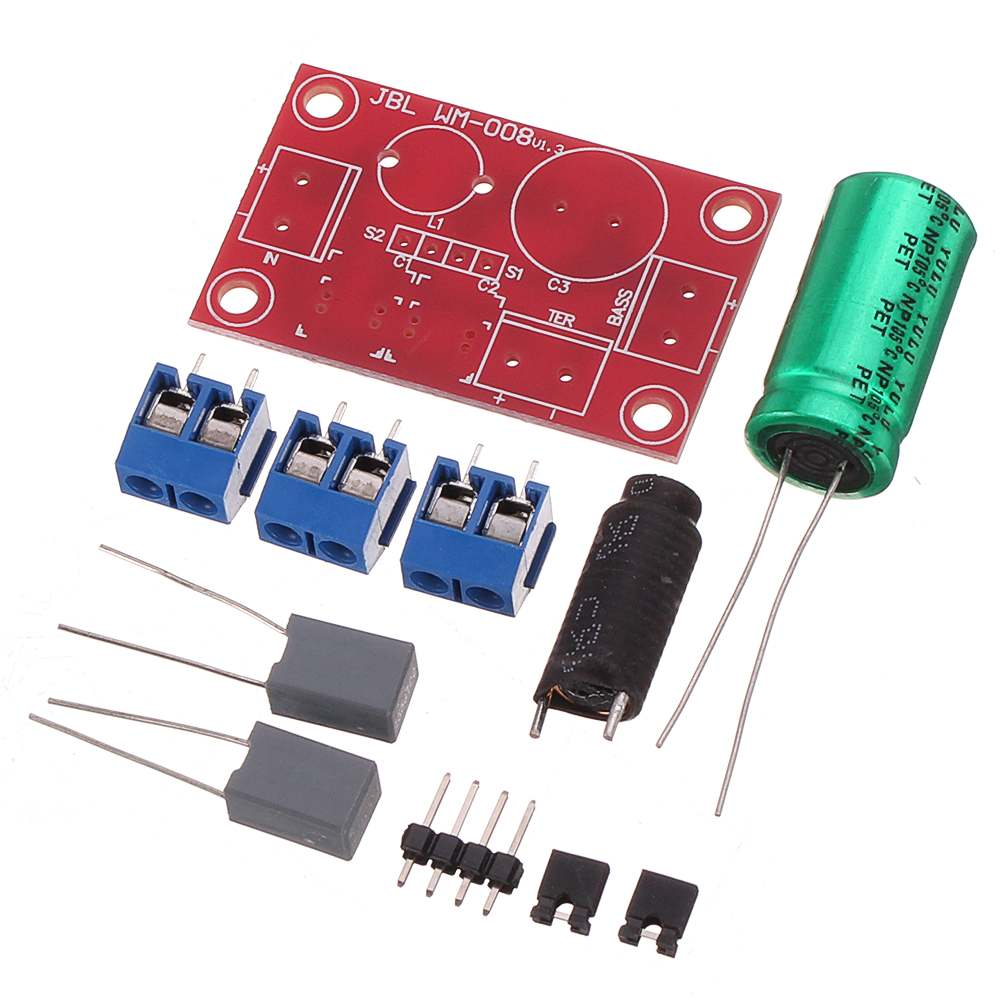 Two-way Speaker Audio Crossover KitFever Debuggable HIFI Speaker High And Low Sound Two-way Speaker Audio Crossover Kit
