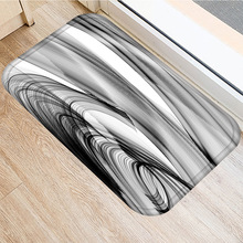 40*60 שיש סריג מלבני פלנל עבה שטיח רחיץ רצפת מחצלת בית חדר שינה מלון דקורטיבי רצפת מחצלת אמבטיה מחצלת.