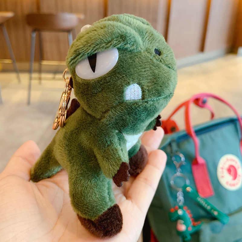Criativa dos desenhos animados tendência quente de pelúcia dinossauro série saco cadeia chave do carro pingente de pelúcia acessórios da boneca de brinquedo de presente