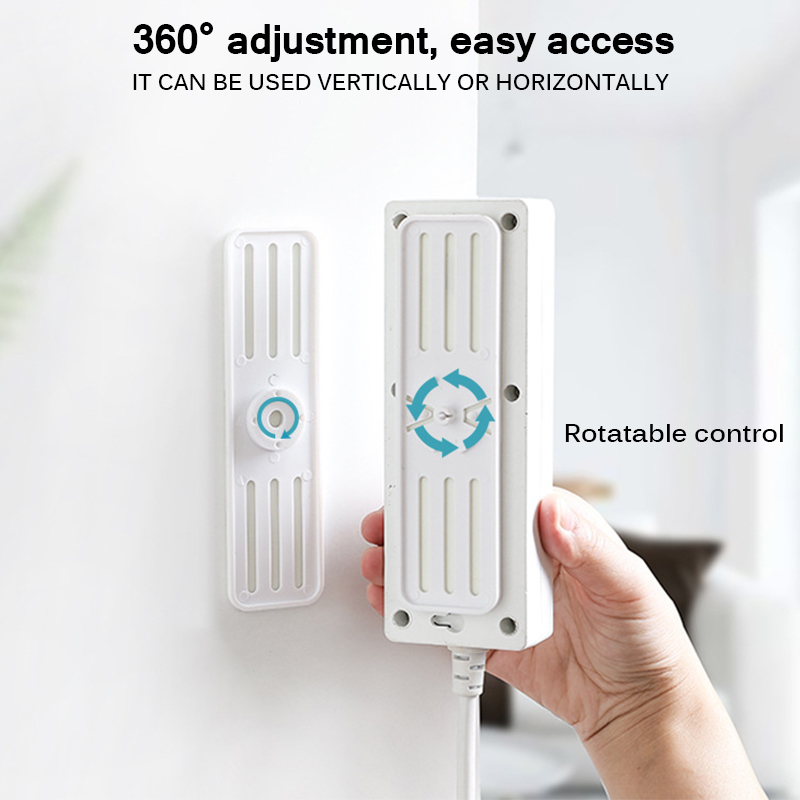 Self Adhesive Wall Mount Power Strip Fixator Household Power Socket Holder Rotatable Fixed Organizer Charger Accessories