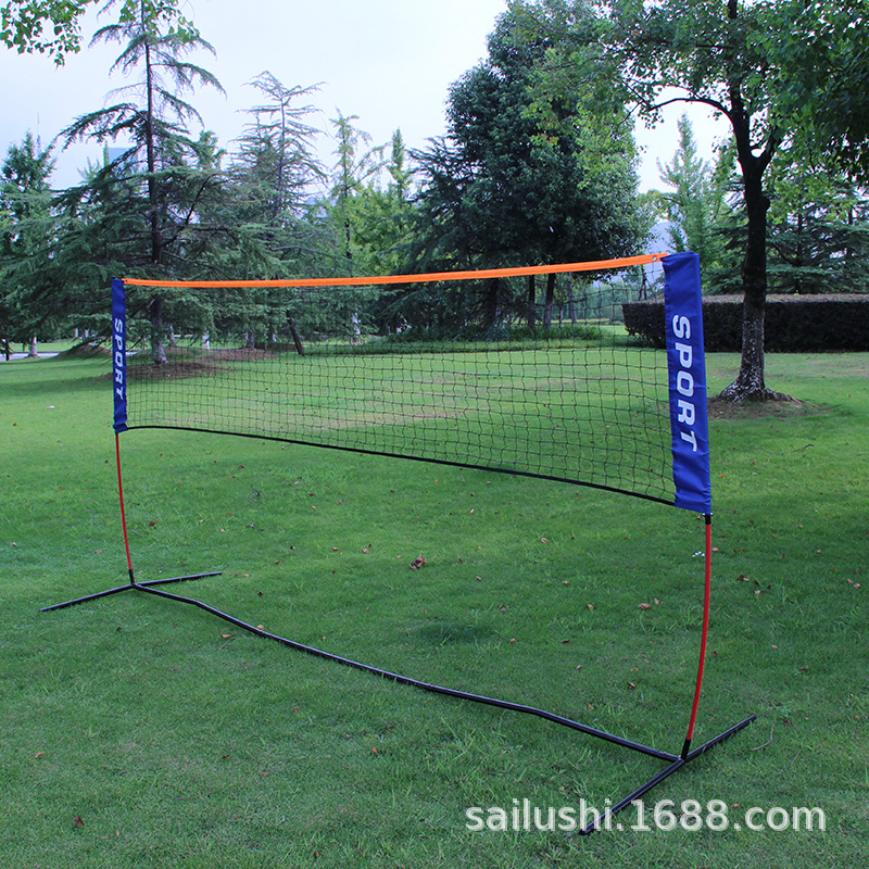 3.1MX1.5M 4.2MX1.5M Foldable Badminton Volleyball Net With Bracket Outdoor Portable Standard Match Training Net With Frame F1036
