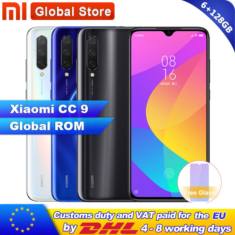 Global ROM Xiaomi Mi CC9 6GB RAM 128GB ROM Mobile Phone Snapdragon 710 48MP Triple Camera 32MP Front Camera 6.39