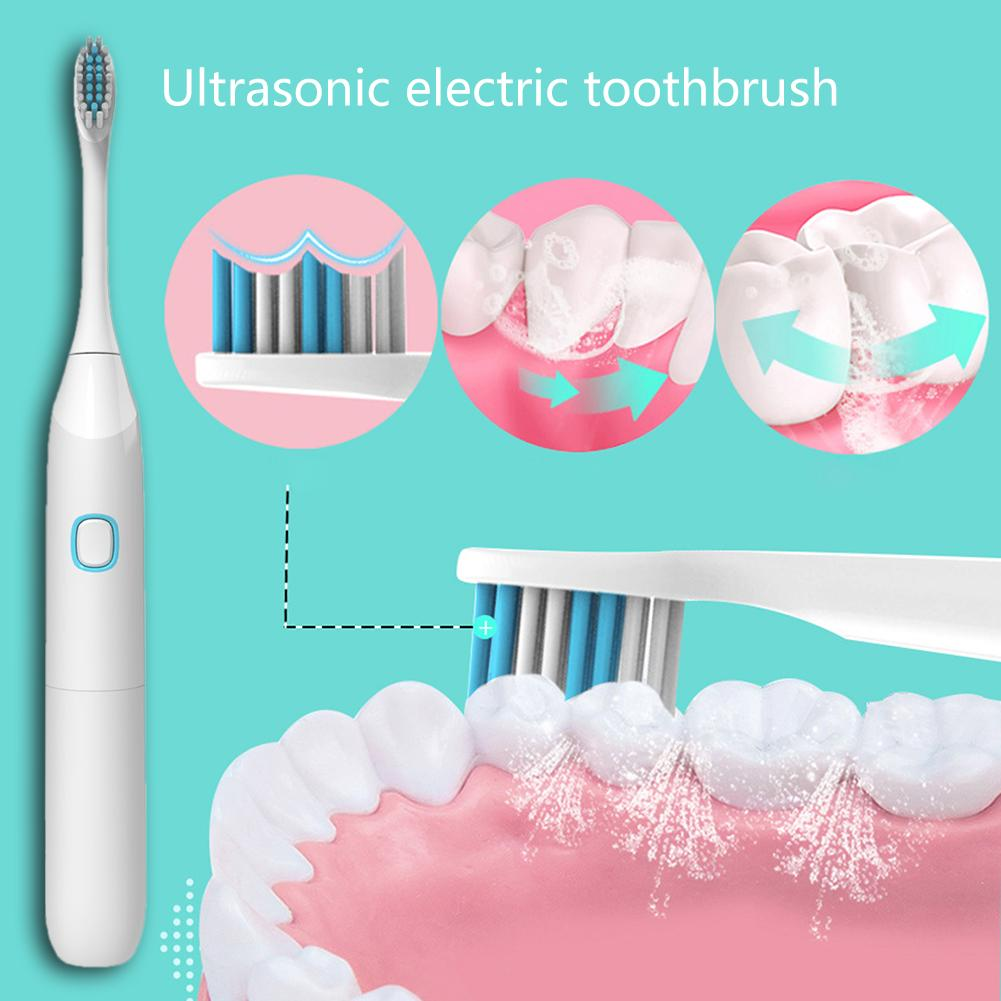 Battery Type Tooth Brush Ultrasound Electric Toothbrush Removal of 38% Plaque Gingiva Protection IP65 Waterproof Electric image