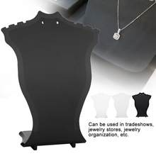 Jewelry Display Stand Pendant Necklace Chain Holder Earring Bust Display Stand Showcase Rack Organizer Black White Transparent(China)