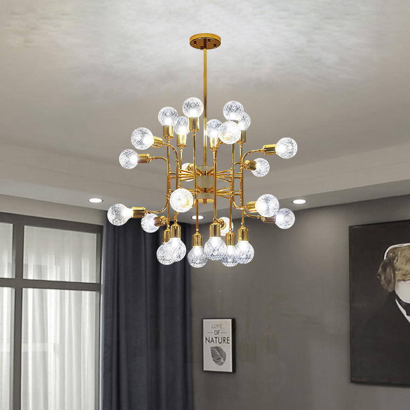 Grand Chandeliers Of The Nordic Villas, Post-modern Creative Glass Dining Room Lamps Living Room Designer Hall Chandeliers