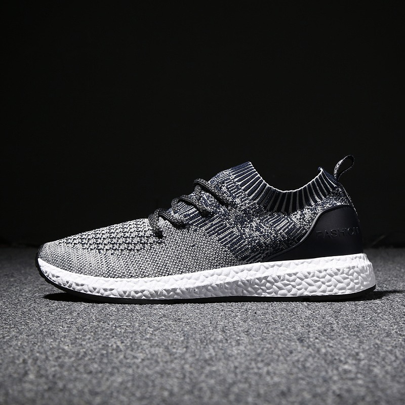 2019 autumn new men's shoes fly woven lightweight casual sneakers trend fashion wild breathable wear-resistant mesh shoes