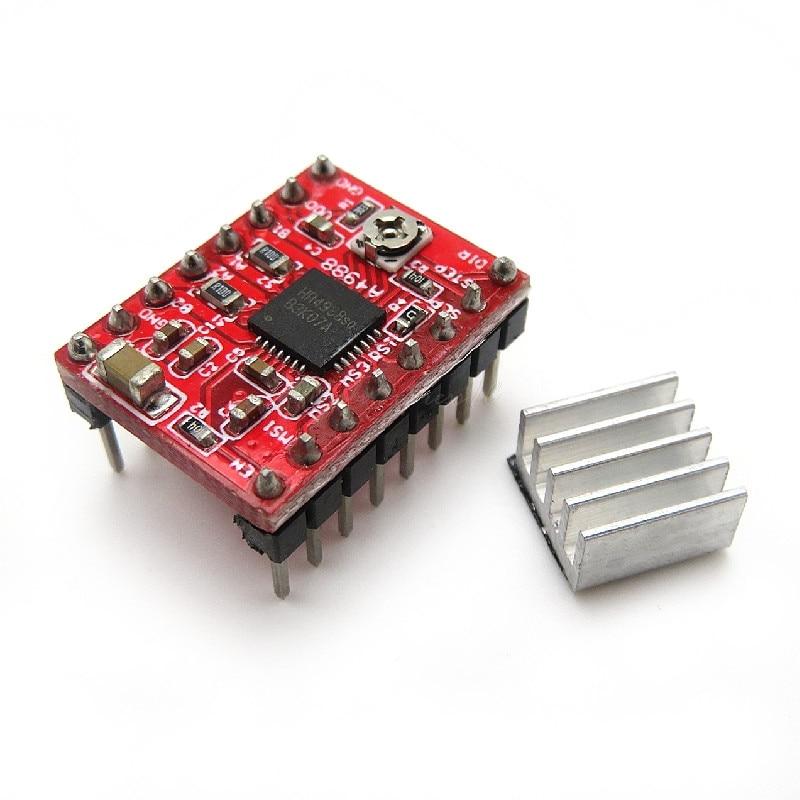 1 шт. / Лот A4988 StepStick Stepper Driver + радиатор для 3D-принтера Reprap Pololu красный M08 челнока L29K в наличии