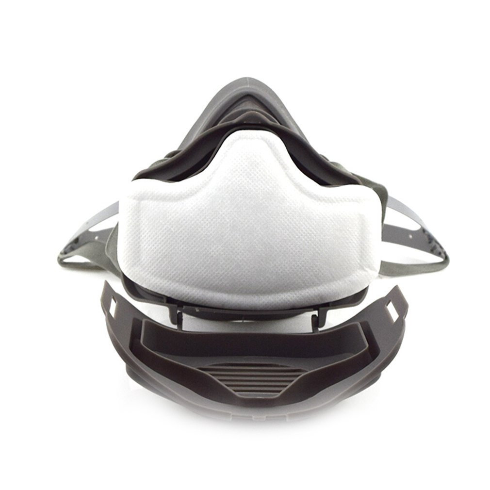 Anti Dust Respirator Mask Filter Polishing Industrial Paint Spraying Decorate Protective Mask Workplace Safety