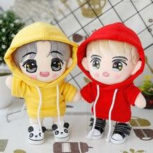 20 см EXO Кукла Одежда Повседневная Толстовка сплошной цвет 4 цвета Кукла Одежда Пальто куклы аксессуары