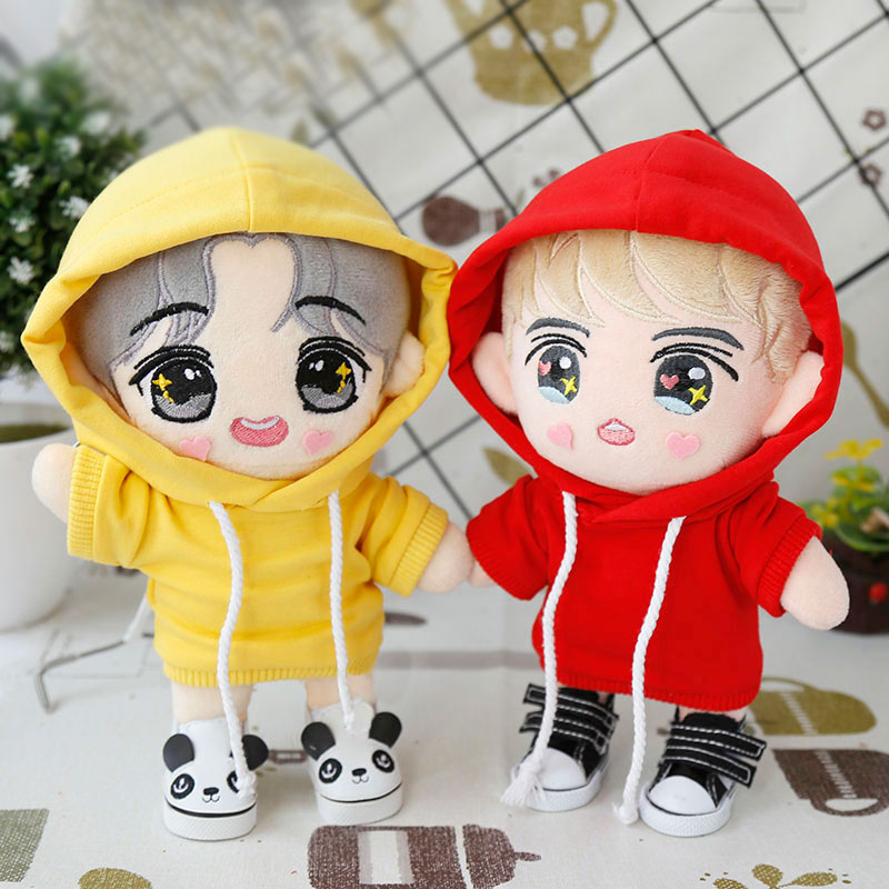 20 Cm EXO Doll Clothing Casual Hoodie Solid Color 4 Colors Available Doll Clothes Coat Doll Accessories