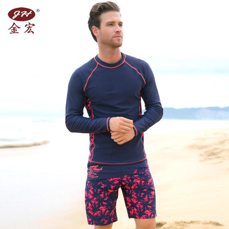 JH Brand Beach Tops New Style Beach Men's Long Sleeve Top Men's Swimwear