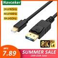 Мини-displayport DP 1 4  4K  144 Гц  кабель 2K  165 Гц  DP 1 4  адаптер thunderbolt DP в Mini DP  конвертер для ПК Macbook Pro Air 2020