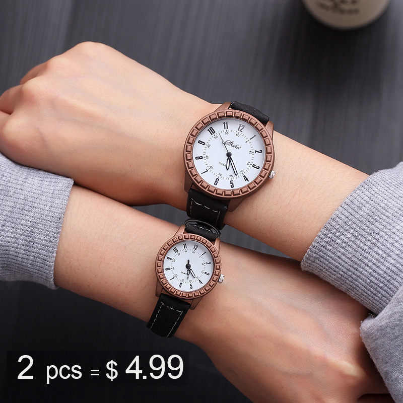 Couple Watches 2019 New Fashion Leather Lover's Watches Simple Couple Watch Gifts  for Men Women Clock Pareja Pair watch