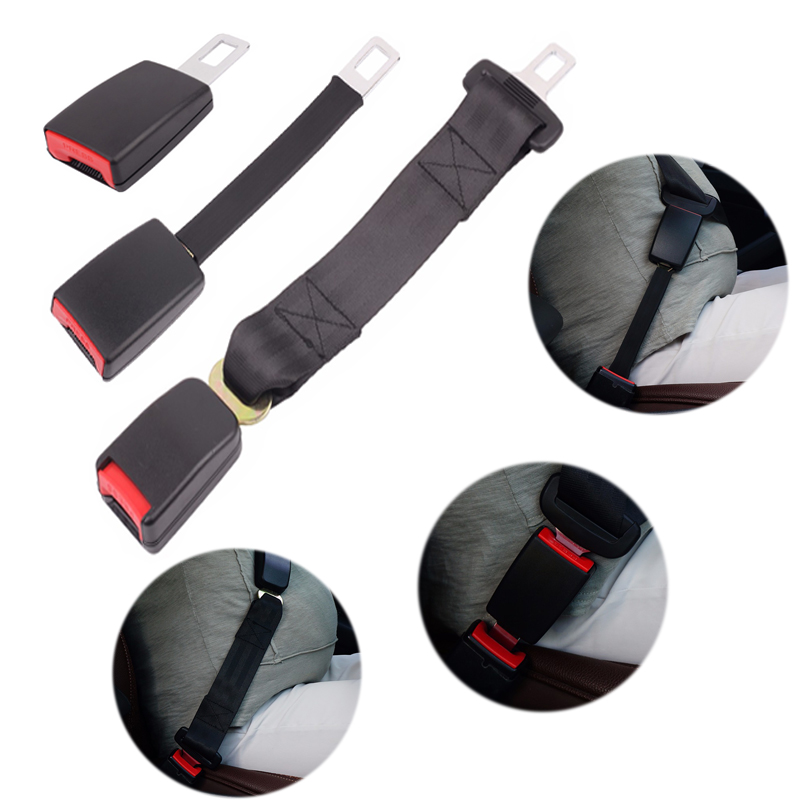Universal Car Safety Belt Extender Seat Belt Cover 3 Size  Seat Belt Extension Plug Buckle Seatbelt Clip Auto Accessories