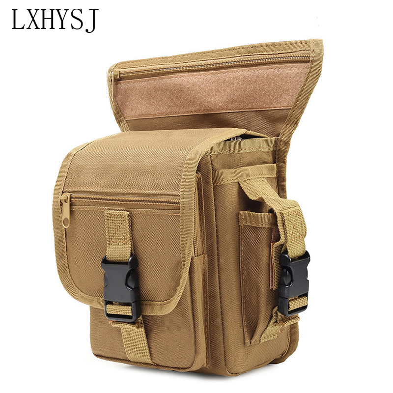 Men Waterproof Canvas Drop LegsBag Fashion Travel Waist Bag Hip Belt Fanny Pack Tactics Motorcycle Riding Waist Crossbody Bags