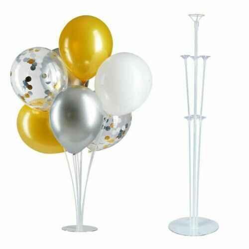 1 Set Kolom Tegak Balon Dukungan Display Stand Ulang Tahun Pesta Pernikahan Dekorasi Meja Mengambang Huruf Balon Mendukung Rod