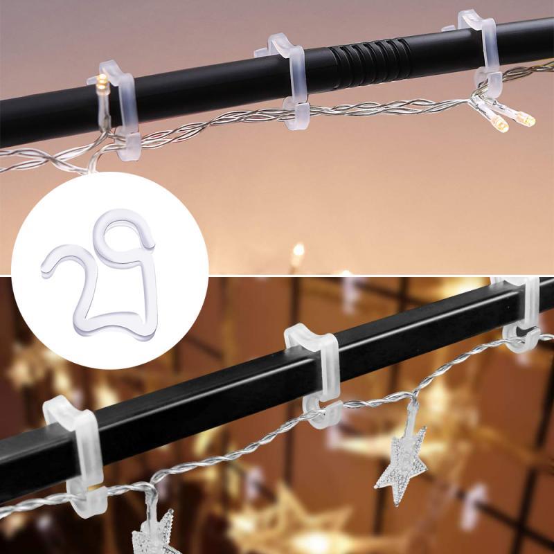 50 Pcs Multi Purpose Hooks String Light Hooks Clips Hanging Christmas Fairy Icicle Party Light Hanger Festoon Gutter Hang S Clip