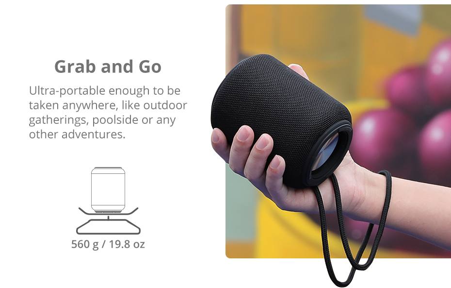 Tronsmart T6 Mini Bluetooth Speaker TWS Speakers IPX6 Waterproof Wireless Bluetooth 5.0 Speaker 24 Hours Play-time Portable Speaker with 360 Degree Surround Sound, Voice Assistant (9)