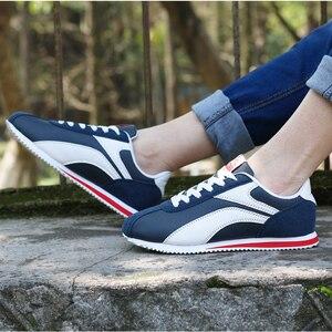 Image 5 - קל משקל סניקרס לגברים תחרה עד נעליים יומיומיות איש חיצוני הליכה זכר דירות כחול אפור ריצה הנעלה מאמני 8 8.5 9 9.5
