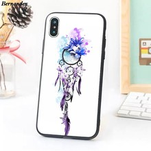 Bernandez Ungu Dream Catcher Case Ponsel untuk iPhone 11 Pro X XR X MAX 5 6 7 8 Plus Samsung galaxy Note(China)