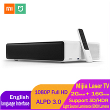 Xiaomi Mijia Laser Projection TV 150 Inches 5000 Lumens 1080 Full HD 4K 2GB DDR3 16GB eMMC Home Theater Projector Support 3D HDR