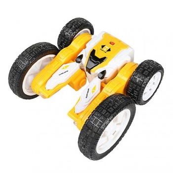 Remote Control Toys Double-sided Stunt Car, Deformable And Long-lasting Battery Life, Luminous Children's Stunt Rotating Toy image