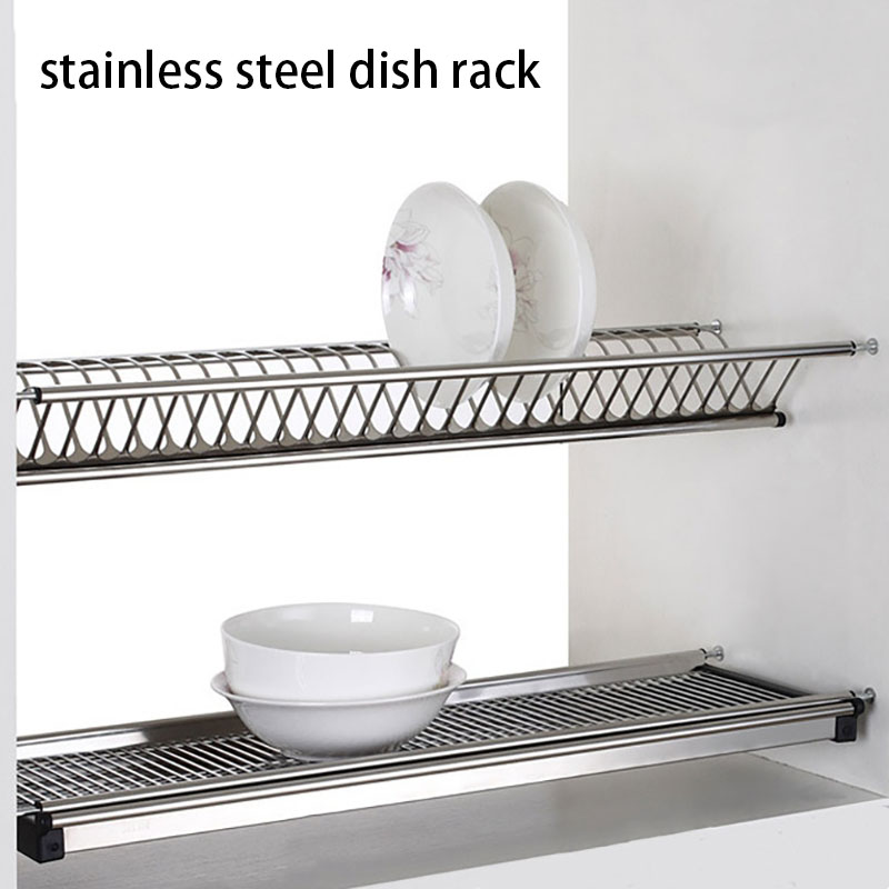 600mm stainless steel Dish Rack Kitchen Organizer Plate Bowl Storage Shelf Pot Lid Rack Spoon Holder Pan Cover Stand Drying Rack