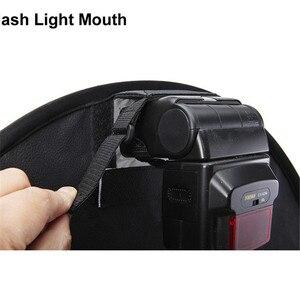 Image 3 - 45cm טבעת Softbox מבזק עגול סגנון פלאש אור לירות רך תיבה מתקפל רכה פלאש אור מפזר עבור DSLR Canon ניקון
