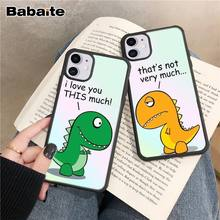 Babaite Dinosaure couple luxry case coque fundas for iphone 4s 4 5s 5 5c se 6 6s 7 8 plus x 11 pro max cases cover nand pro box ip nand pro for iphone 4 4s 5 5c 5s 6 6p supported for ipad 2 3 4 5 6 supported