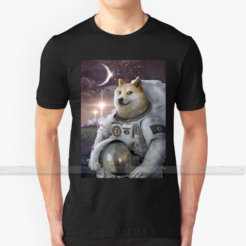 Very Astronaut Ver 3 T-Shirt Men 3D Print Summer Top Round Neck Women T Shirts Doge Meme Dogecoin Crypto Cryptocurrency Bitcoin 1