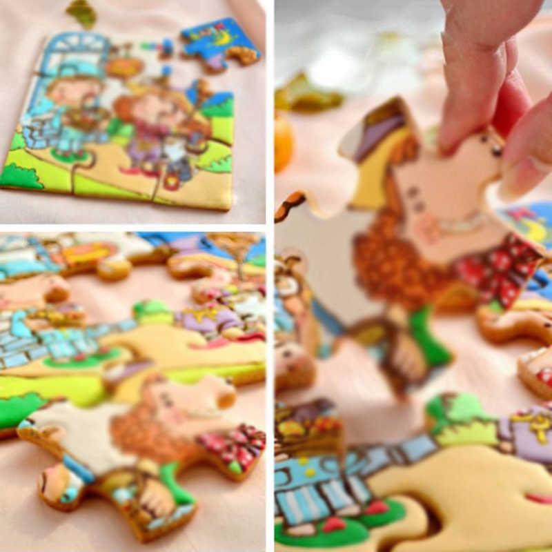 Acier inoxydable gâteau moule Puzzle pièce pâtisserie emporte-pièce Fondant cuisson outil Cookie puzzle pièce Cutter