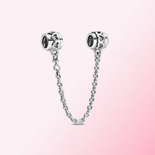 2020 New 100% 925 Sterling Silver 20th Anniversary Heart Safety Chain Charm High Quality Fashion Women's Jewelry Factory Direct(China)
