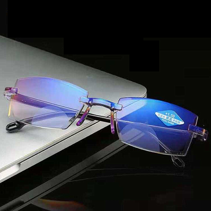 Ultralight Rimless Reading Glasses Anti Blue Light Radiation Computer Presbyopia Readers spectacleso Reader Glasses