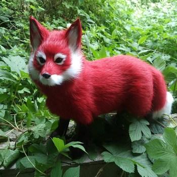 Sztuczne futro zwierząt sztuczne czerwone lisa ogień lisa dekoracji wnętrz dekoracji salonu dekoracji samochodu tanie i dobre opinie