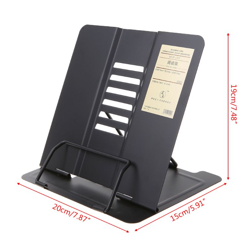 Portable Metal Adjustable Reading Book Holder Support Document Shelf Bookstand 2